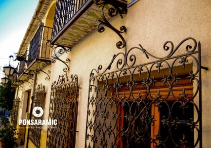 Spain Abanilla - Window Shutters Closeup (Watermarked)
