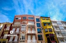 Spain Cartagena - Coloured Buildings (Watermarked)