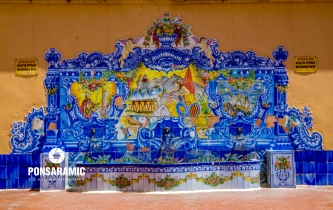 Spain Orihuela - Ornate Taps and Mural (Watermarked)